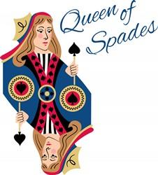 Queen Of Spades Print Art