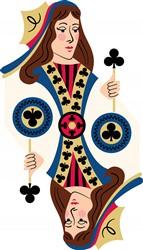 Clubs Queen Print Art