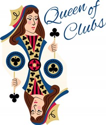 Queen Of Clubs Print Art