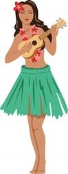Hula Girl Print Art