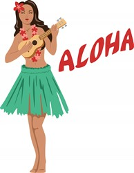 Aloha Girl Print Art