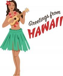 Hawaii Greetings Print Art
