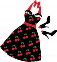 Cherry Dress Print Art