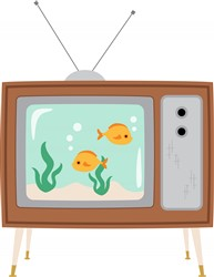 TV Aquarium Print Art