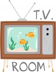 TV Room Print Art