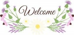 Welcome Flowers Print Art