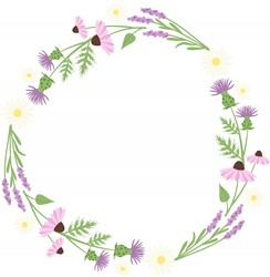 Wildflower Wreath Print Art