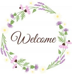 Welcome Wreath Print Art