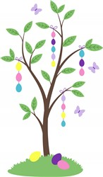 Easter Egg Tree Print Art