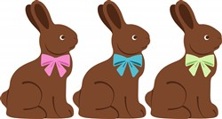 Chocolate Bunnies Print Art