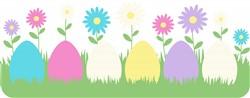 Eggs Flower Border Print Art