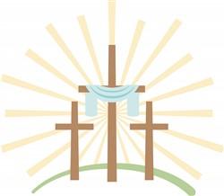 Easter Crosses Print Art