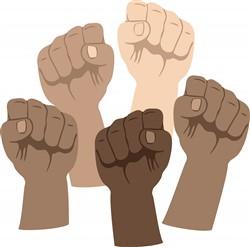 Protest Fists Print Art