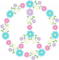 Peace Flowers Print Art