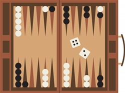 Backgammon Print Art