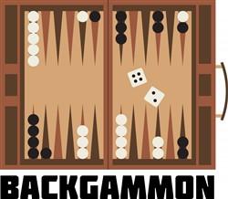 Backgammon Board Print Art