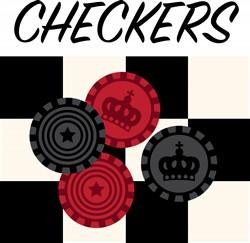 Checkers Print Art