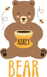 Honey Bear Print Art