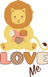Love Me Lion Print Art