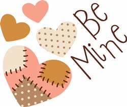 Be Mine Hearts Print Art