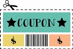 Coupon Cut Out Print Art