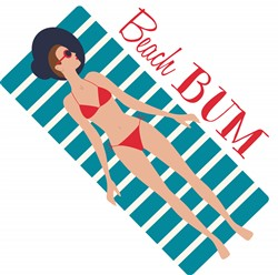 Beach Bum Print Art