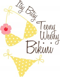 Itsy Bitsy Bikini Print Art