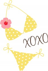 XOXO Bikini Print Art