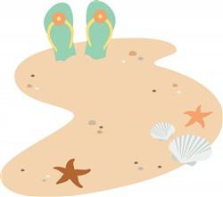 Beach Flip Flops Print Art