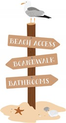 Beach Access Print Art
