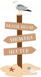 Beach House Sign Print Art