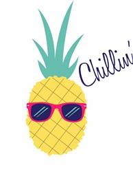 Chillin Pineapple Print Art