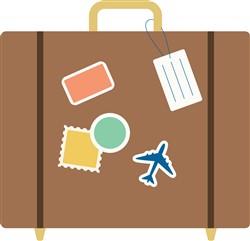Travel Luggage Print Art