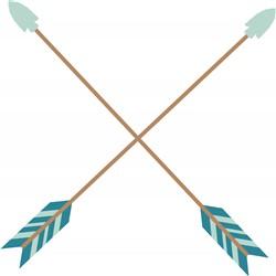 Crossed Arrows Print Art