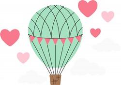 Love Balloon Print Art