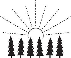 Sunrise Trees Print Art