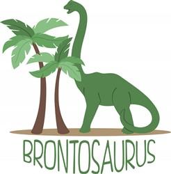 Brontosaurus Dinosaur Print Art