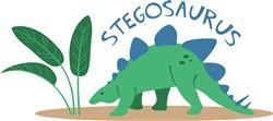 Stegosaurus Dinosaur Print Art