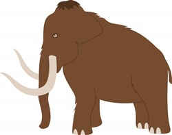 Wooly Mammoth Print Art