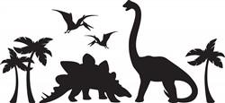 Dinosaur Silhouette Print Art