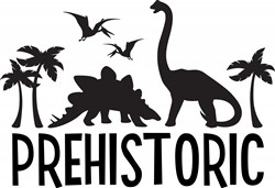 Prehistoric Dinos Print Art