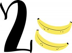 2 Bananas Print Art