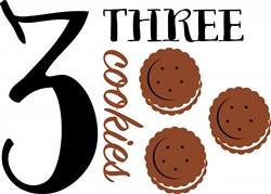 Three Cookies Print Art