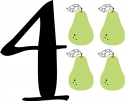 4 Pears Print Art