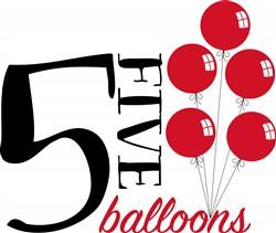 Five Balloons Print Art