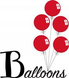 Red Balloons Print Art