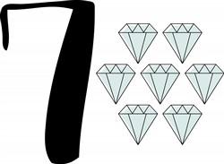 7 Diamonds Print Art
