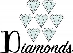 Diamonds Print Art