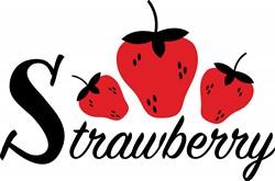 Strawberry Print Art