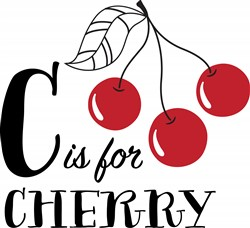 C For Cherry Print Art
